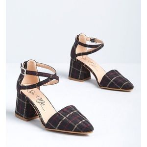 Plaid Ankle Strap Heel From ModCloth